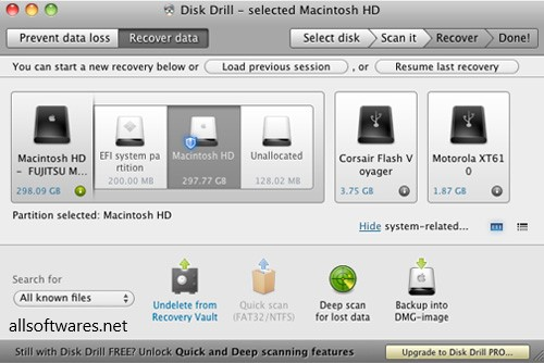Disk Drill 4.0.521.0 Pro Crack + Serial Key Windows + Mac [Latest]