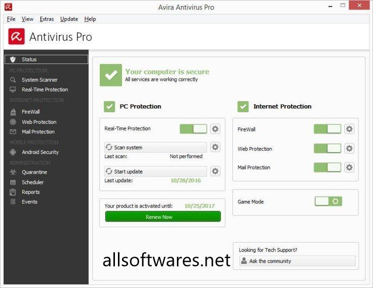 Avira Antivirus Pro 2019 Key + Crack Till 2020